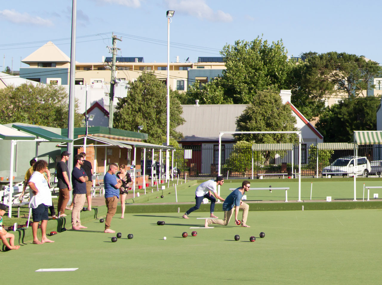 Bowling at Lowlands Bowling Club
